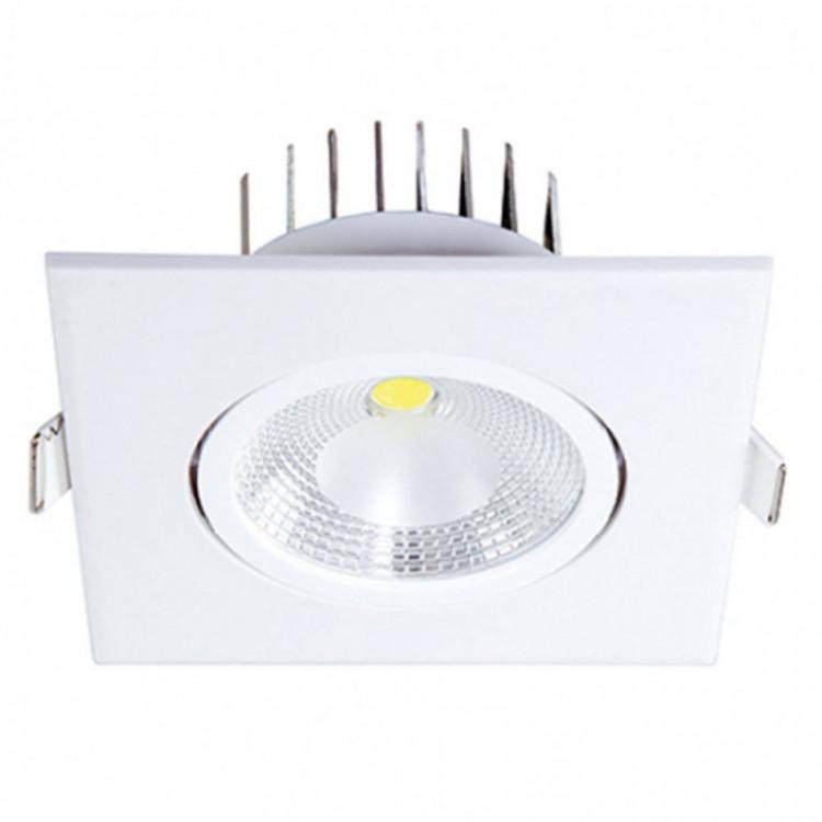 Spot Led 6w Quadrado 6500k Luz Branca para embutir bivolt. Em Abs Policarbonato Blumenau Illuminação