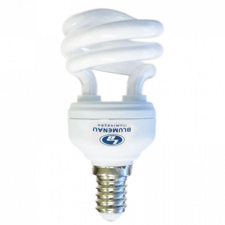 Lâmpada Fluorescente  Compacta mini Espiral 14W 127V Branca - Blumenau Iluminação E27