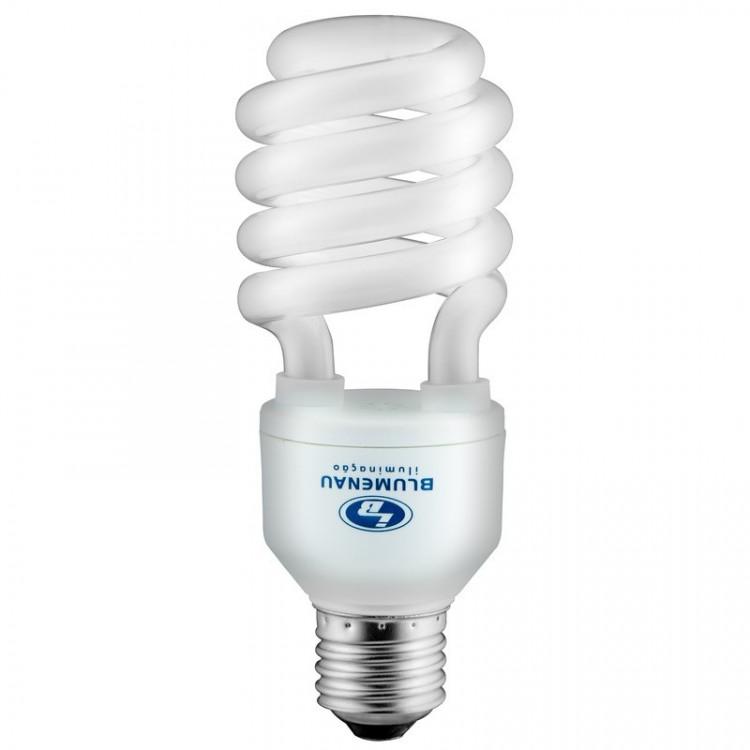 Lâmpada Fluorescente  Compacta mini Espiral 20W 127V Branca - Blumenau Iluminação E27